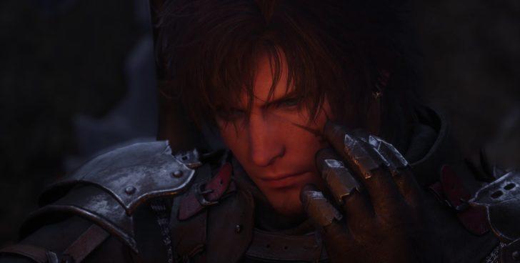 瞳のアップから傷をなでている主人公らしきキャラクターの顔が写る