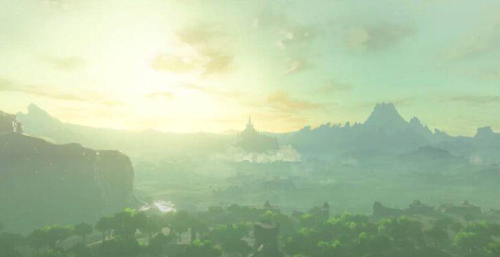 周りから砂煙が上がったかと思うと、空へと浮上するハイラル城