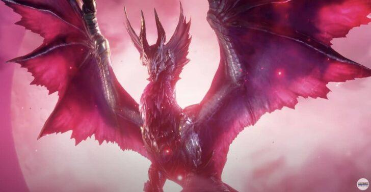 城の柱を上って姿を表したのは、サンブレイクのメインモンスターである「爵銀龍 メル・ゼナ」