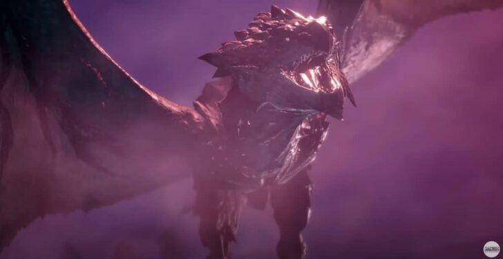 その上空を、火を吐きながら逃げ惑うリオレウスらしきモンスター